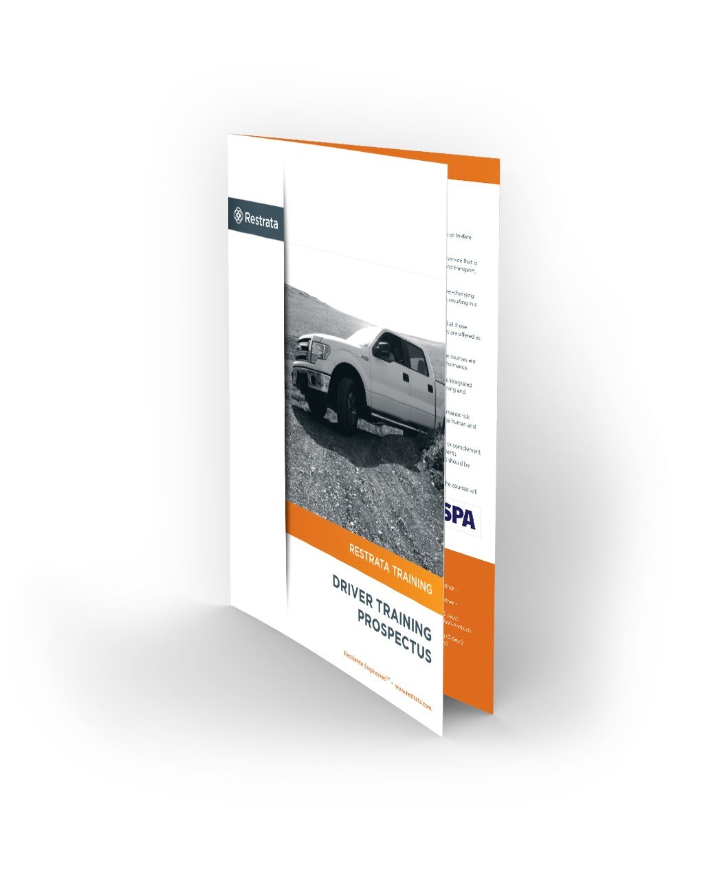 A brochure with a wide range of accredited driver trainings delivered by the experienced Restrata team